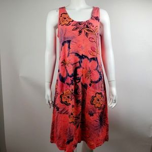 Fresh Produce Floral Sleeveless Dress Medium